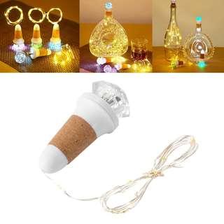LD1185 - 單個裝 USB led發光酒瓶蓋軟木塞瓶蓋燈帶1米10燈銅線燈串 暖白
