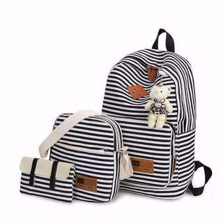 🌷 3 in 1 striped backpacks (free shipping)