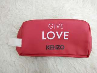 Kenzo pouch 💕Give love red + white colored pouch