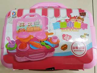 Portable kitchen playset