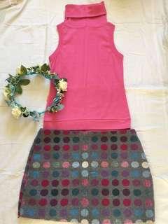 Pink top and skirt bundle