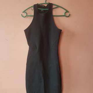 Halter bodycon dress H&M