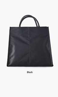 黑色簡約ol袋 有長帶