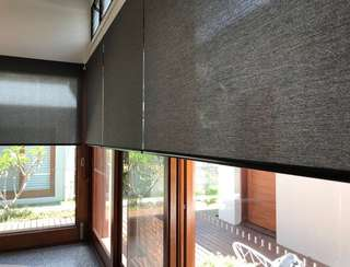 Black Panel Elegant Roller Blind