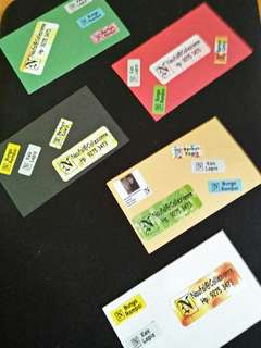 Stickers on Namecards