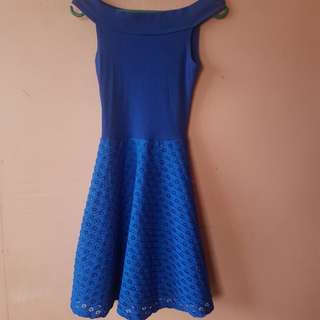 Blue offshoulder Dress