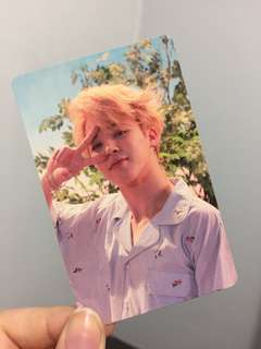 BTS LY Official Jimin Photocard