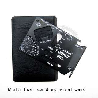 22 in 1 Multi Tool survival card