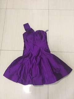 Couture mini dress tafeta
