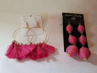 On hand  bundle sale!! Pink dangling fashion earrings