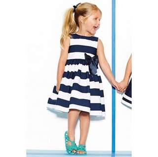 SB 035 Girl Cute Stripes Dress