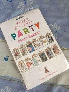Happy Birthday Party Photo Banner