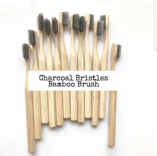 Charcoal Bristles Bamboo Toothbrush *Sharp Bristles*