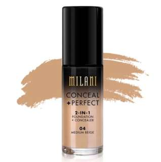Instock Milani Conceal + Perfect 2-in-1 Foundation 04 Medium Beige