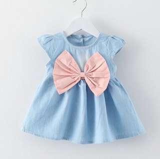 SB 031 Baby Girl Cute Bow Dress