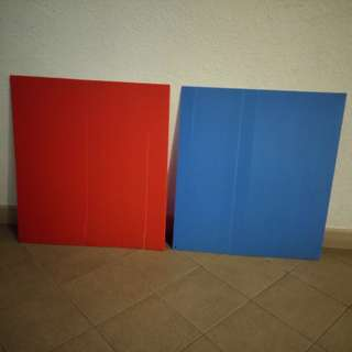 2 Corriboard. Colour: Red & Blue