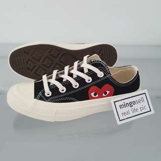 Eur36 Instock! Japan Design Canvas Shoes with Red heart