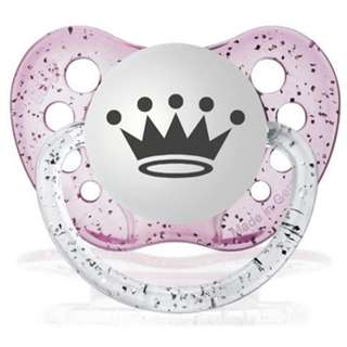 Ulubulu Pacifier | Clear Pink CROWN