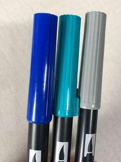 < wts > tombow brush pens