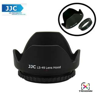 JJC LS-49 (49mm) Universal flower Screw-in Lens Hood for Standard Zoom Lens (Reverse Mount Possible)