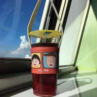 🚚 [hsu__shop]現貨 ♻️環保飲料提袋 卡通版 飲料杯套 飲料袋