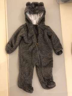 Baby Furry Bear Winter Onesie Jacket - Carters 9mo