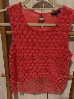 Topshop red summery top