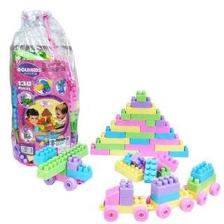 Mainan Lego Block GOLDKIDS 130 LEGO UKURAN BESAR