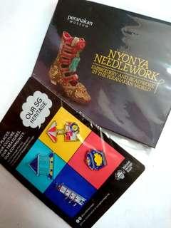 🚚 Peranakan notecards and envelops + Unique Singapore Heritage Pins
