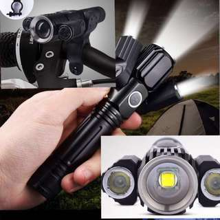 L2 LED powerful torchlight rechargeable battery