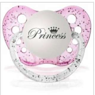 Ulubulu Pacifier - Clear Pink PRINCESS