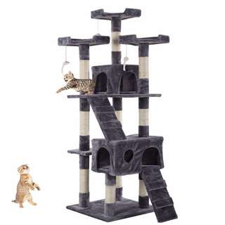 1.7m Cat Treehouse Tower Condo Scratch Pole Post Toy