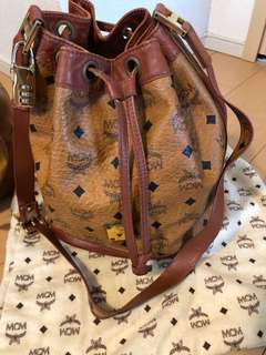 Authentic MCM Drawstring Bag