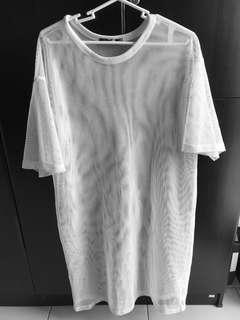 Long bershka mesh top