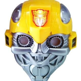 Mainan Anak TOPENG TRANSFORMER BUMBLE BEE (NYALA)