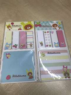 Rilakkuma post it pads