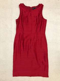 Warehouse red dress