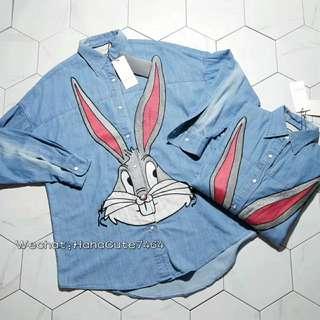 (价格私询)GUC 18SS兔八哥牛仔衬衫