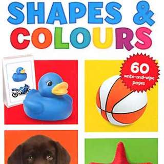 Buku Anak SHAPES AND COLOURS TURN AND LEARN WIPE CLEAN PAD