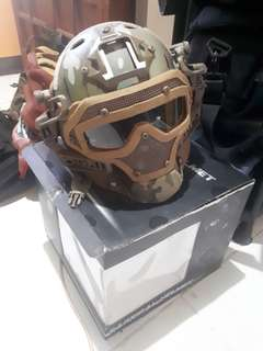 Airsoft Helmet with mask