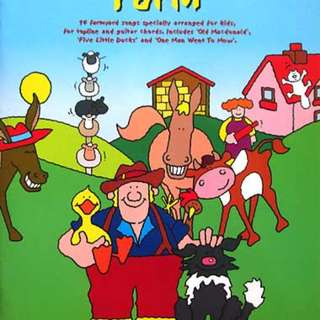 Mainan Gitar Anak OLD MACDONALD'S FARM - 14 FARMYARD SONGS SPECIALLY ARRANGED FOR KIDS, FOR TOPLINE AND GUITAR CHORDS (INCLUDES FULL PERFORMANCE AUDIO CD)
