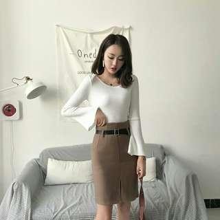$8 MAILED SALE / BN Essential Slit Skirt
