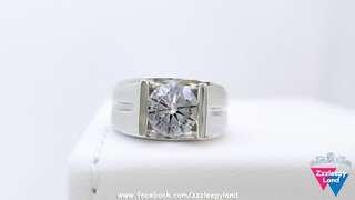 超閃 男裝牛頭戒 十心十箭高炭鑽925純銀6層包金戒指,可訂造任何指圈size