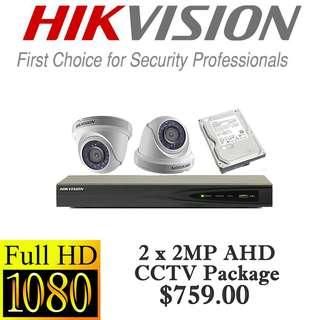 CCTVSG.NET HIKvision 1080P AHD CCTV Package 2