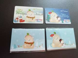 Mr Bean NetFlashpay Cards. Set of 2 cards.
