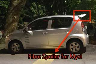 Myvi Sport Fibre Spoiler