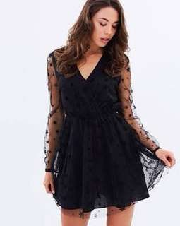 Alexis mesh star dress atmos and here new with tags