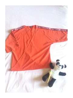 Colorbox Orange Kimono tshirt