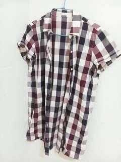 🚚 格紋短袖襯衫