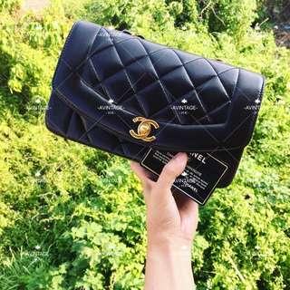 (SOLD)Chanel Vintage 黑色羊皮 Diana Bag 22cm